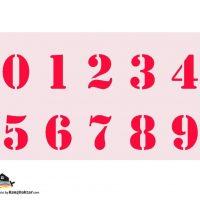 شابلون اعداد