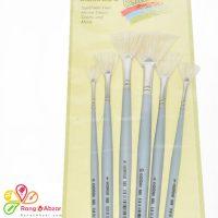 قلم مو چتری با موی طبیعی سفید خرم سری 0 تا 10
